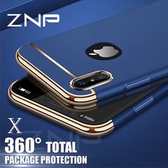 ZNP Luxury 360 Degree Ultra Thin Protective Case For iphone X Cases  Shockproof Full Cover For iphone 8 7 6 6s Plus X Phone Case 0b144075b4