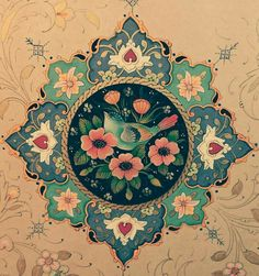 Persian Pattern, Persian Motifs, Islamic Art Pattern, Pattern Art, Motif Arabesque, Middle Eastern Art, Paisley Art, Illumination Art, Islamic Paintings