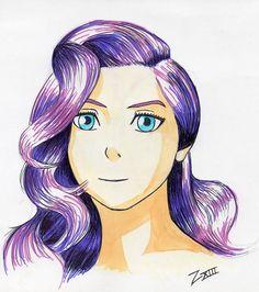 Girl with purple hair by Zefiro Viera Almasy