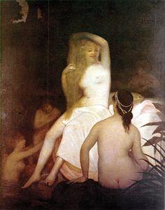 Jose Ferraz de Almeida Junior (Brazillian: 1850 - 1899) -After the bath (1881)