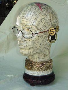 Obtainium Art - A gallery of assemblage works: Mannequin Heads Paper Mache Crafts, Doll Crafts, Styrofoam Head, Craft Show Displays, Mannequin Heads, Masks Art, Tecno, Medium Art, Vintage Mannequin