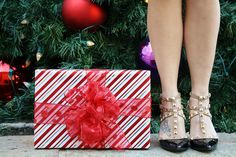 Black rockstud pumps for Christmas, holiday party, or year-round!