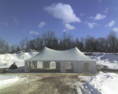 WINTER WEDDING? No problem. RENTALEX has the tent and heating you need!