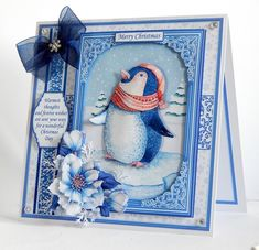 PENGUIN Christmas 7.8 Quick Layer Card or Decoupage Mini Kit - CUP893806_68 | Craftsuprint