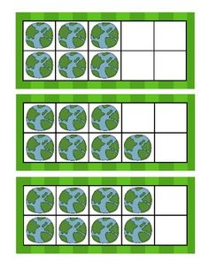 Here's a set of Earth themed ten frame cards.