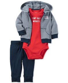 Carter's Baby Boys' 3-Pc. Little All-Star Hoodie, Bodysuit & Pants Set