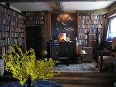 home library - I like a dark, cozy room that LOOKS like an old fashioned library