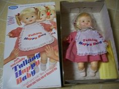 VINTAGE HORSMAN TALKING HAPPY BABY DOLL & ORIGINAL BOX | #352097917