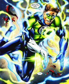 Hal Jordan as Blue/Green Lantern hybrid Gi Joe, Comic Books Art, Comic Art, Book Art, Blue Lantern Corps, Green Lantern Hal Jordan, Great Fear, Comic Pictures, Marvel Art