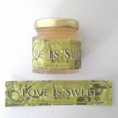 Small Personalized Honey Wedding Favor (Just for Utah! Honey Wedding Favors, Wedding Party Favors, Diy Wedding Projects, Wedding Ideas, Love Is Sweet, Spring Wedding, Pure Products, Label, Weddings