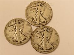 US 1920 P, D, S Walking Liberty Silver Half Dollar Coin Lot of 3  Featured in the US Coins Auction on July 25, 2013 HamptonAuction.com