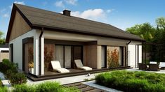 Architect House, Small House Design, Design Case, Beautiful Homes, My House, House Plans, Sweet Home, Cottage, Exterior