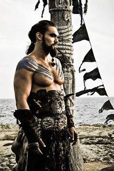 Game Of Thrones Jason Momoa as the brutish Dothraki leader pledged to aid his wife Daenerys in claiming her crown and Westeros.