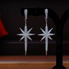 Star Drop Full Pave Earrings // Y LABEL APPAREL