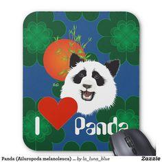 Panda (Ailuropoda melanoleuca) Mauspad Panda, Mousepad, Animals, Pandas