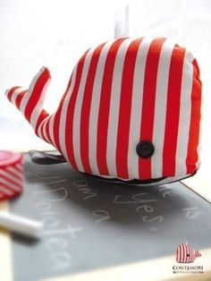 soft toy Dorotea the Whale: - toys Tilda Toy, Sewing Projects, Diy Projects, Diy Bebe, Fabric Toys, Creation Couture, Sewing Toys, Diy Toys, Stuffed Animals