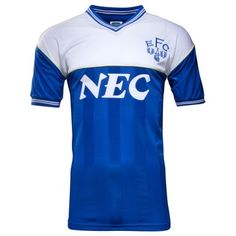 Everton FC 1986 retro home shirt available at www.premiersportsproducts.com