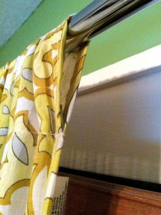 How to make curtains from a bed sheet