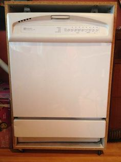 Dishwasher Cabinet With Wheels. Look How Simple It Is!