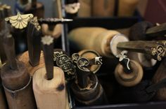 Brass bookbinding hand tools