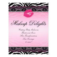 Beauty salon a4 flyer pinterest flyer printing print templates template flyer hair salon zebra lips lace pink maxwellsz