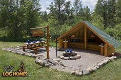 Custom Eagle Prow 4 - Fire Pit & Hut - How cute is this idea??