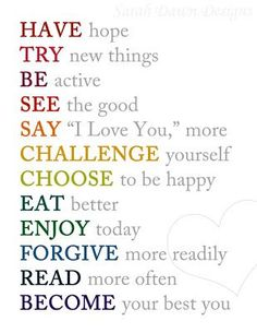 Love that last one! Inspiration to print and keep as a reminder