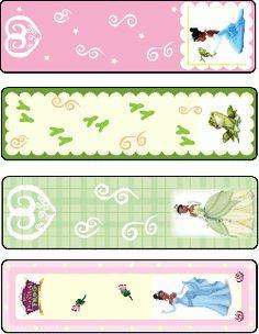 Princess Frog printable Bookmarks