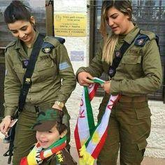 Israel army & kurdistan flag