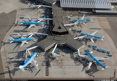 The Schiphol (Amsterdam, The Netherlands).