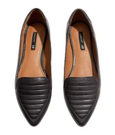 Leather loafers H&M