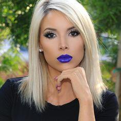 "49.8k Likes, 782 Comments - Lustrelux (@katy) on Instagram: """"I'm thinking""  Eyes: @katvondbeauty ""Smoke"" eye palette @kokolashes Queen B lashes Face: @armani…"""