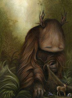 Dan May - Illustration - Reveal Forest Creatures, Magical Creatures, Monster Illustration, Illustration Art, May Arts, Art Sculpture, Cute Monsters, Monster Art, Pop Surrealism