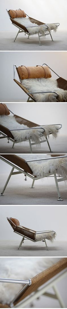 "Hans Wegner "" Flag Line "" Halyard Lounge chair"