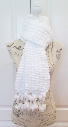 Brilliant White Scarf for Women or Teens, Supersoft, Chunky, Handknitted Cosy Scarf, Outdoor Wear, Mother's Day Gift by AwfyBrawJewellery on Etsy