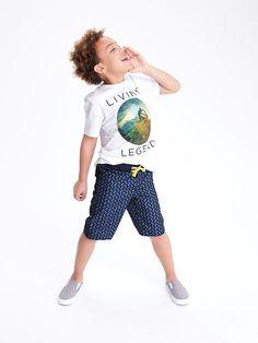 Patterned Board Shorts