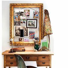 Un cadre doré en guise de mood board - Marie Claire Maison