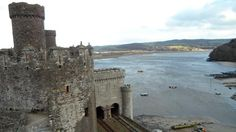 Looking out from Conwy Castle. Lladudno, Wales. January 2012.