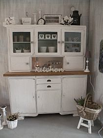 Cottage Homes, Shabby Chic Decor, New Kitchen, China Cabinet, Cupboard, Decoration, Armoire, Home Goods, Kitchen Cabinets