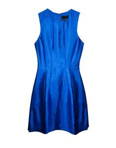 Cynthia Rowley - Silk Seamed Waist Dress w/ Pockets | Dresses