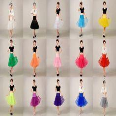 Short Crinoline Girls Petticoat Vintage Underskirt Fancy Skirt Slips Underdress #CrinolineHoop