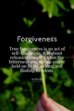 Forgiveness is LESS about the other person and MORE to do with you!  #forgive