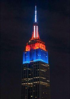 The Empire State Building is Bronco Orange and Blue tonight for our team!!!