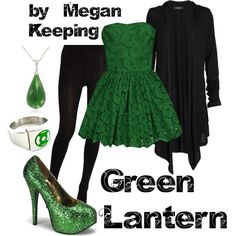 Green Lantern, created by megskeeping on Polyvore