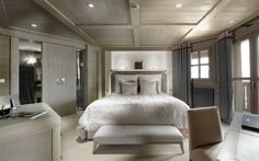 Bedroom White Lamp On The Wooden Ceiling Gray Contemporary Bedroom Wood Ceiling With Cream Floor Can Add The Beauty Inside Modern Bedroom Design Ideas Minimalist Gray Contemporary Bedroom Wood Ceiling