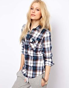 Superdry Check Shirt With Elbow Patches