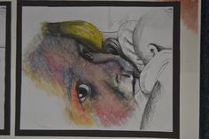 Oil pastel and turps development of Matilda.