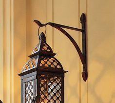 Casablanca Wall-Mounted Bracket Lantern Hook #potterybarn  http://www.potterybarn.com/products/wall-mounted-lantern-hook/
