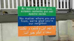 """A church in Harrisonburg, Va., posted a simple message last year: """"No matter where you are from, we're glad you're our neighbor,"""" in three languages. Now the signs show up from D.C. to Detroit."""
