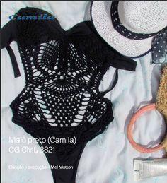 receita no blog by Sandra Duarte: Maiô Retrô em Crochê